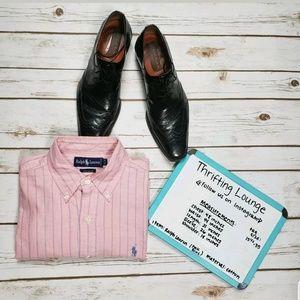 Ralph Lauren Mens Dress Shirt Bubblegum Pink 15.5
